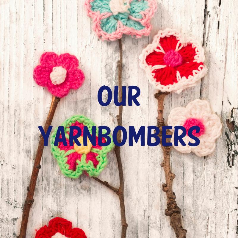 yarnbombers, yarnbomb, open door, st albans foodbank, st albans postboxes